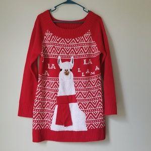 Holiday Time Llama Knit Ugly Sweater NWOT!